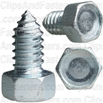 "3/8"" X 3/4"" Indented Hex Head Tapping Screws Zinc"