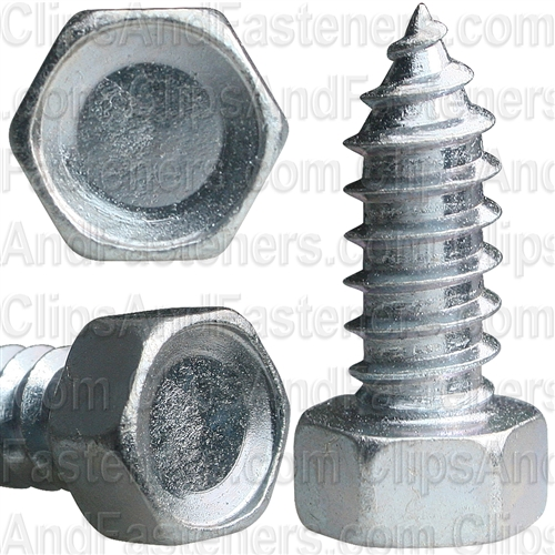 "3/8"" X 1"" Indented Hex Head Tapping Screws Zinc"