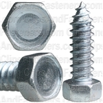 "3/8"" X 1-1/4"" Indented Hex Head Tapping Screws Zinc"