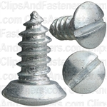 #14 X 5/8 Slotted Oval Head Tapping Screws Zinc