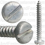 "#4 X 7/8"" Zinc Slotted Pan Head Tapping Screws"