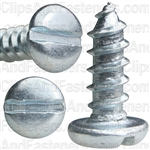 "#12 X 5/8"" Zinc Slotted Pan Head Tapping Screws"