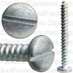 "#14 X 2-1/4"" Zinc Slotted Pan Head Tapping Screws"