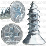 "#4 X 3/8"" Phillips Flat Head Tapping Screw Zinc"