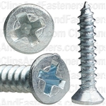 "#4 X 5/8"" Phillips Flat Head Tapping Screw Zinc"