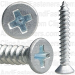 "#4 X 3/4"" Phillips Flat Head Tapping Screw Zinc"