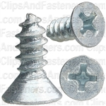 "#8 X 1/2"" Phillips Flat Head Tapping Screw Zinc"