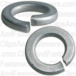 "#6 (1/8"") Grade 5 Spring Type Lock Washer Zinc"