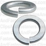 "#8 (5/32"") Grade 5 Spring Type Lock Washer Zinc"