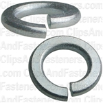 "#10 (3/16"") Grade 5 Spring Type Lock Washer Zinc"