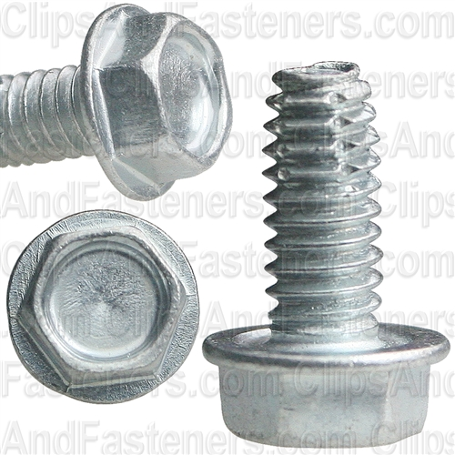 8-32 X 3/8 Hex Washer Head Thread Cutting Screws Zinc