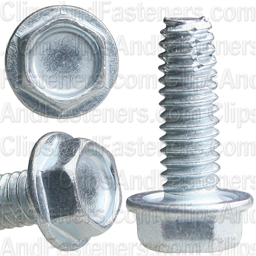 8-32 X 1/2 Hex Washer Head Thread Cutting Screws Zinc