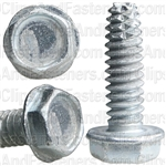 10-24 X 5/8 Hex Washer Head Thread Cutting Screws Zinc
