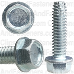 1/4-20 X 1 Hex Washer Head Thread Cutting Screws Zinc