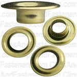 No.2 Size Grommet & Washer Brass