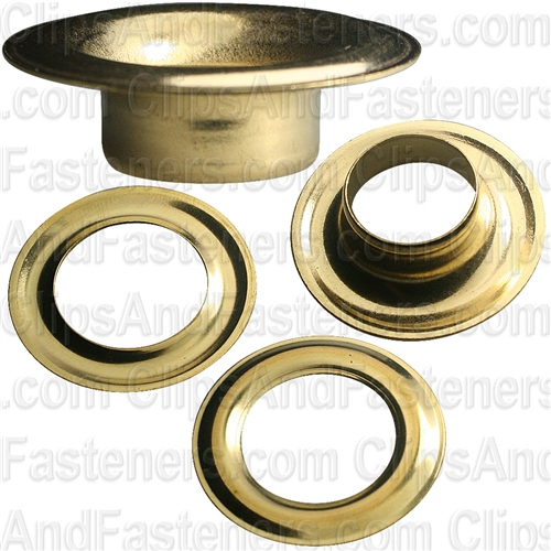 No. 5 Size Grommet And Washer Brass