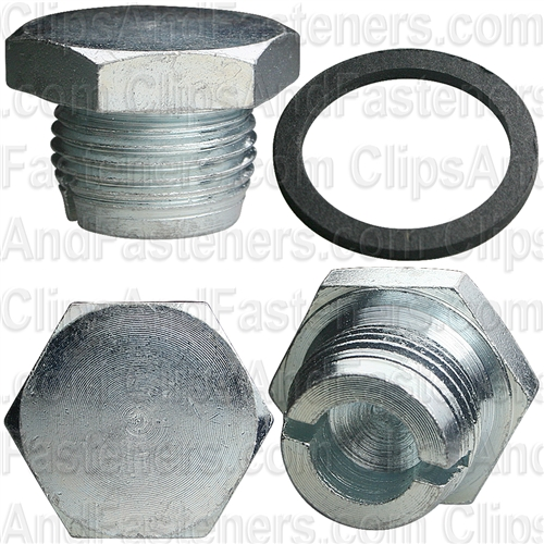"7/8""-14 Single Oversize Drain Plug With Gasket"