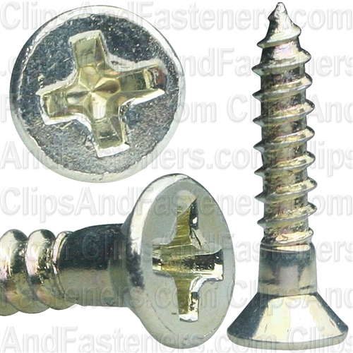 6 X 3/4 Phil Flat Hd Wood Screw Zinc