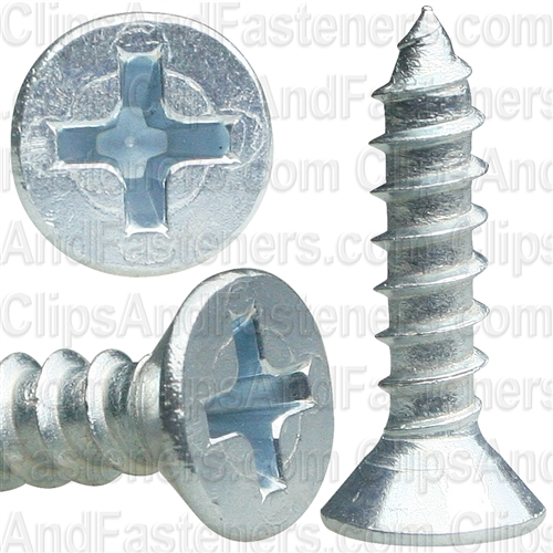 8 X 3/4 Phil Flat Hd Wood Screw Zinc