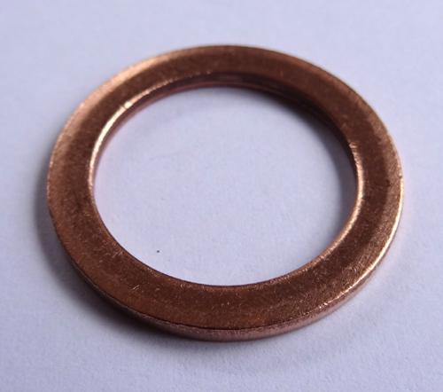 Copper Lock Washer : Copper washer mm i d o thick