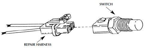 Engine Fan Switch Repair Harness Ford 3U2Z-14S411-MNA