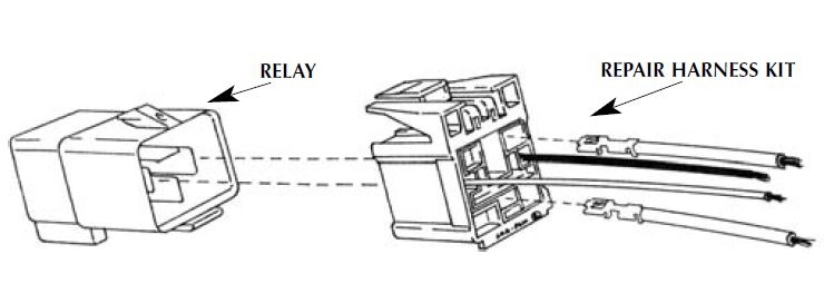 Horn & Blower Relay Repair Harness Kit 3U2Z-14S411-ZVA