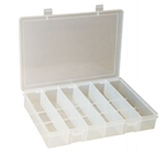6 Compartment Large Plastic Box