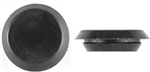 "9/16"" Black Plastic Flush Type Hole Plugs 7/8"" Head"