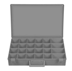 "Deep Large Gray Plastic Tray 18 1/4"" Wide 12 1/4"""