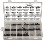 255 Piece Black & Zinc Phillips Washer Head Trim Screws