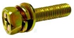 M6 - 1.0 x 40mm Phillips Hex Head SEMS Screw Class 8.8