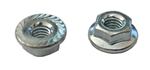 M 6 - 1.0 JIS Hex Flange Nut, Class 8 with Serrations, Zinc