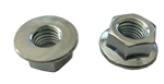M10 - 1.5 Hexagon Flange Nut - Non-Serrated Class 8 Zinc. DIN 6923 / ISO 4161