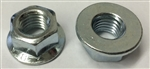 M12 - 1.75 Hexagon Flange Nut - Non-Serrated Class 8 Zinc. DIN 6923 / ISO 4161