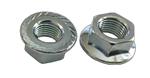 5 M12 - 1.25 JIS Hexagon Flange Nut - With Serrations - Small Hex Class 8 Zinc. JIS B 1190