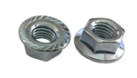 10 M12 - 1.75 Hexagon Flange Nut with Serrations Class 8 Zinc. DIN 6923 / ISO 4161