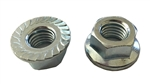 M14 - 2.0 Hexagon Flange Nut - With Serrations  Class 8 Zinc. DIN 6923 / ISO 4161