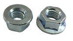 25 M10 - 1.5 Hexagon Flange Nut - Non-Serrated Class 10 Zinc. DIN 6923 / ISO 4161
