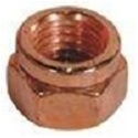 M10-1.5 Exhaust Lock Nut Copper Plated Steel 14mm Hex