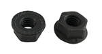 25 M 8 - 1.25 Hex Flange Nut, Class 8 with Serrations, Black Oxide.  DIN 6923 / ISO 4161