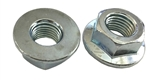 5 M16 - 2.0 Hexagon Flange Nut - Non-Serrated Class 10 Zinc. DIN 6923 / ISO 4161