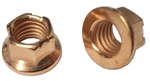 M 8 - 1.25 Top Lock Flange Nut, Non Serrated, Class 10 Copper Plated