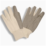 Cordova Cotton Canvas Garden Gloves, PVC Dots, Large 2608