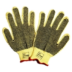 Kevlar Cut Resistant Gloves, 7 Gauge, 2 Sided PVC Dots