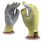 Power Cor Leather Palm Kevlar Cut Resistant Gloves, 7 Gauge