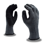 Cordova Gray Machine Knit Gloves, Black Palm Coating 3885