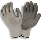 Cordova Gray Machine Knit Gloves, Gray Latex Palm 3897