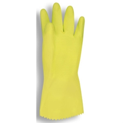 Cordova Yellow Unsupported Latex Rubber Gloves, 18 Mil, Rolled Cuff 4250