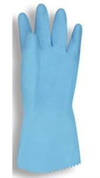 Cordova Lined Blue Latex Gloves, 18 Mil Standard Weight