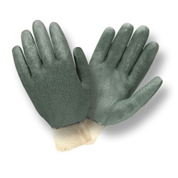 Cordova Green Double Dipped PVC Gloves, Knit Wrist